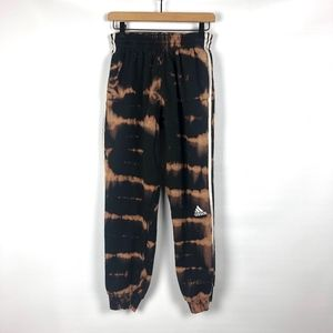 Adidas Hand Bleached Black Side Striped Sweatpants